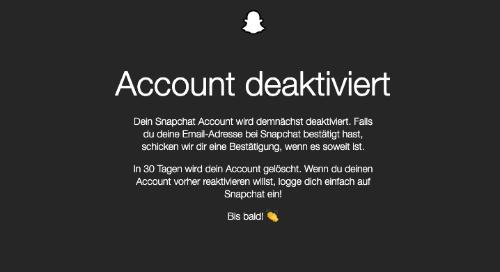 Anleitung Snapchat Konto loeschen 4