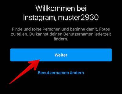 Instagram Konto per App Bild 07