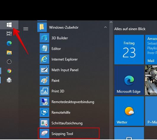 Screenshot Windows Bild 1