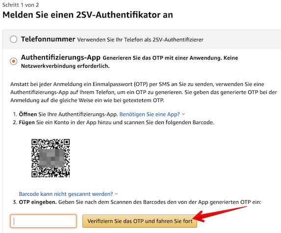 Amazon 2SV einrichten Bild 13_2