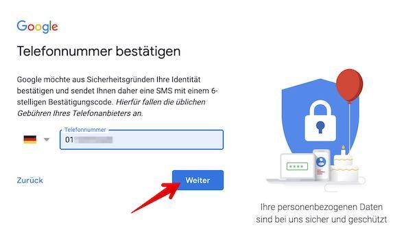 Google Konto einrichten Bild 3_1