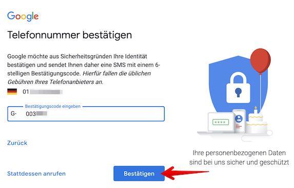Google Konto einrichten Bild 3_2