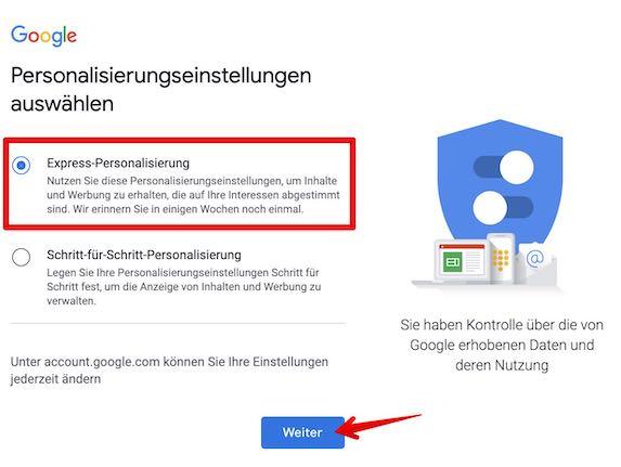 Google Konto einrichten Bild 5