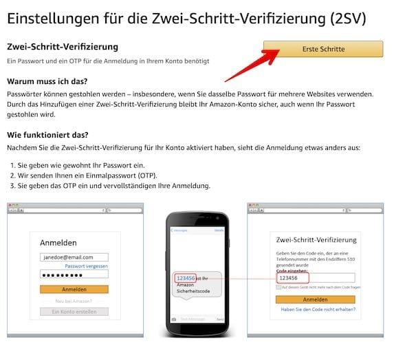 Amazon 2SV einrichten Bild 5