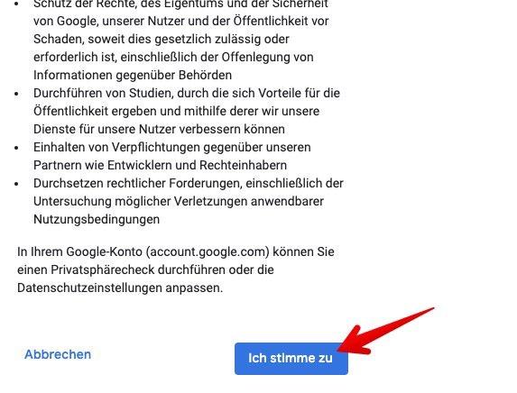 Google Konto einrichten Bild 7