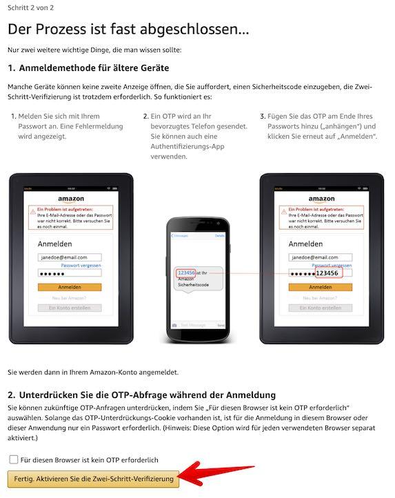 Amazon 2SV einrichten Bild 8