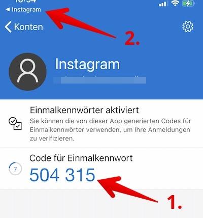 Instagram 2FA Bild 19