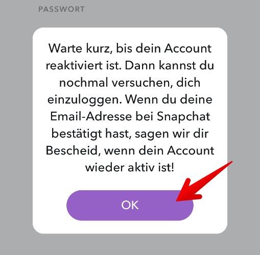 Snapchat Konto reaktivieren 4