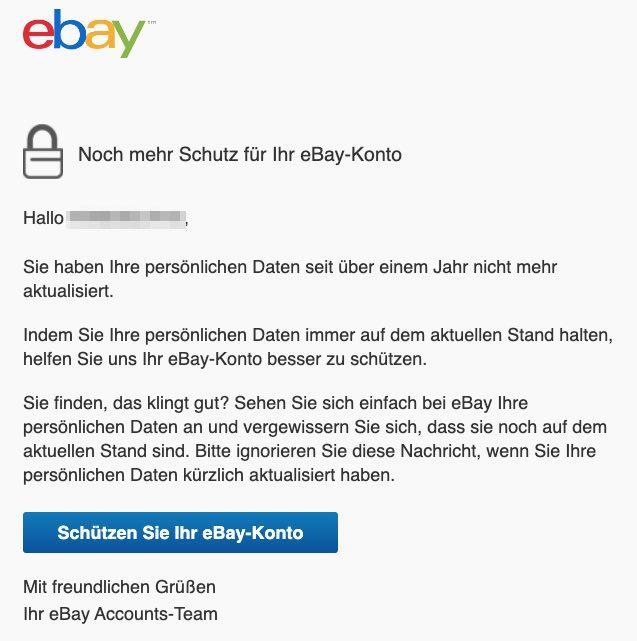 2020-11-06 ebay E-Mail Helfen Sie uns, Ihr eBay-Konto zu schützen