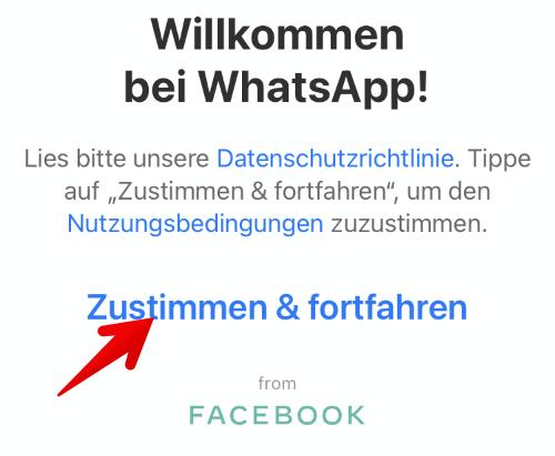 Anleitung WhatsApp einrichten 2
