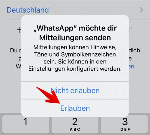 Anleitung WhatsApp einrichten 3