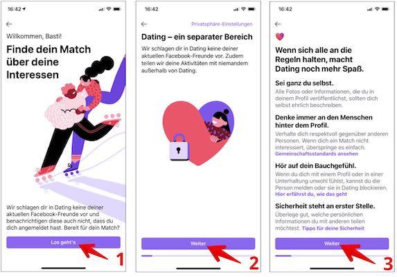 FB-Dating erstellen Bild 3-5
