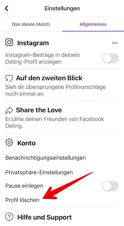 FB-Dating loeschen Bild 02