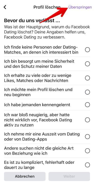 FB-Dating loeschen Bild 03