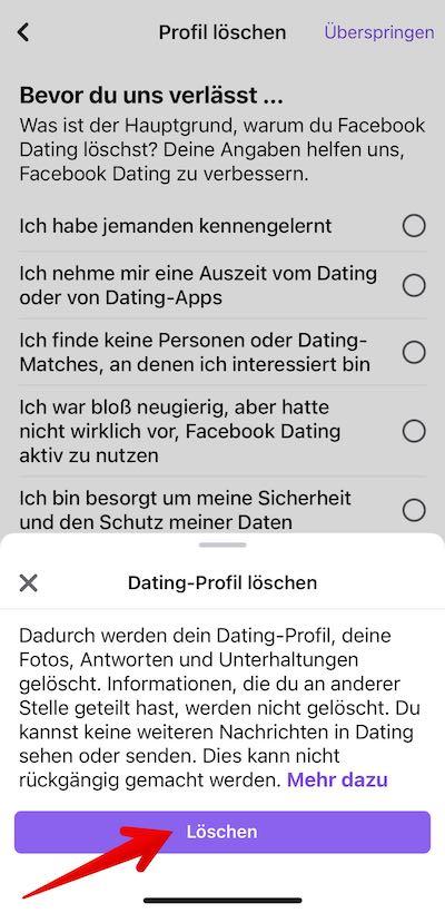 FB-Dating loeschen Bild 04