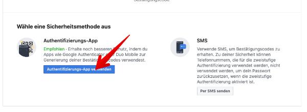 Facebook Zweistufige Authentifizierung