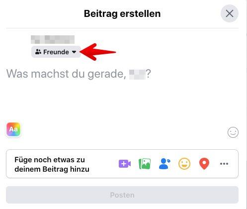 Facebook Anleitung Sichtbarkeit Posts festlegen 3