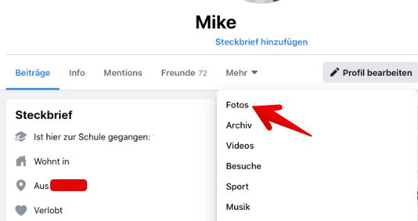 Facebook Anleitung Web-App Fotos loeschen 2
