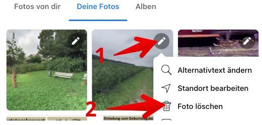 Facebook Anleitung Web-App Fotos loeschen 4