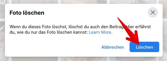Facebook Anleitung Web-App Fotos loeschen 5