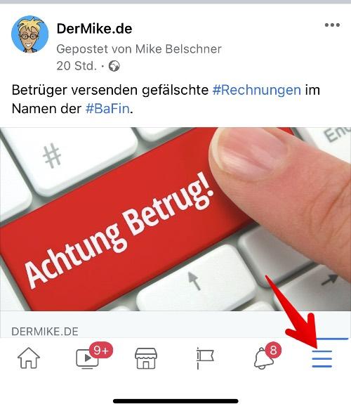 Facebook-App Autoplay deaktivieren 1