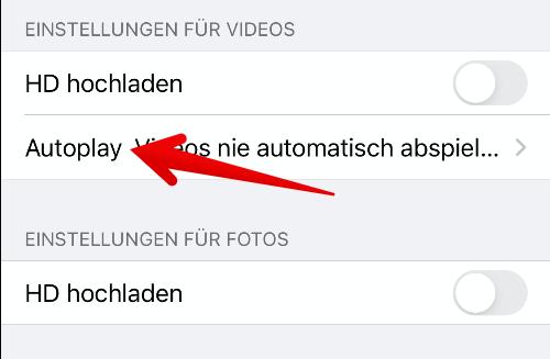 Facebook-App Autoplay deaktivieren 4