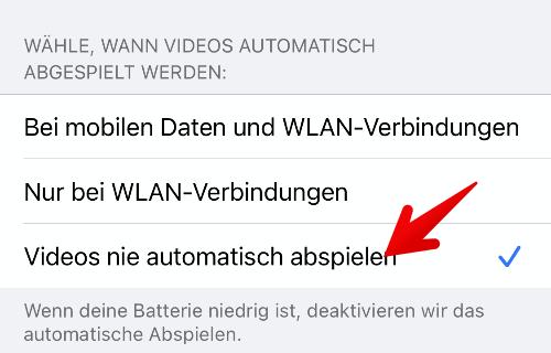 Facebook-App Autoplay deaktivieren 5