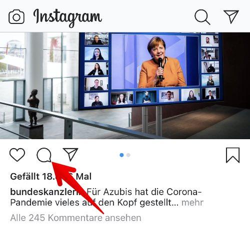 Instagram Anleitung Kommentar melden 1
