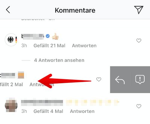 Instagram Anleitung Kommentar melden 2