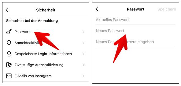 Instagram Passwort ändern 4