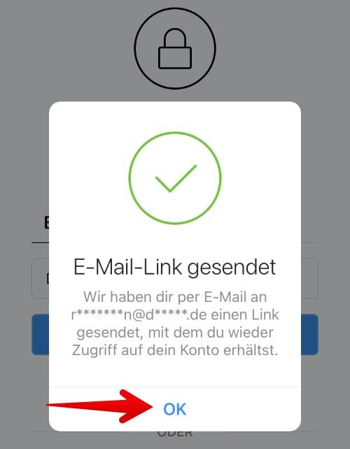 Instagram Passwort zurücksetzen 3