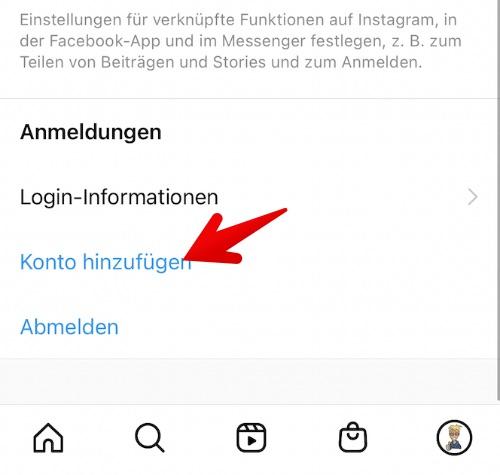 Instagram mehrere Konten einrichten 3