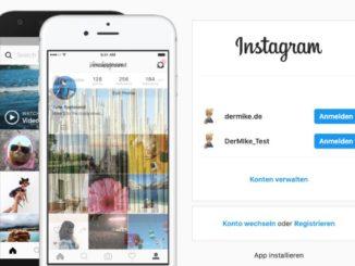 Mehrere Instagram Konten am PC einrichten