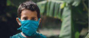 Mund- Nasenschutz Maske Kind Symbolbild