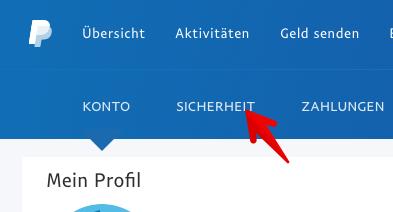 Paypal zweistufige Verifizierung einrichten 1