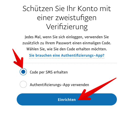 Paypal zweistufige Verifizierung einrichten 3