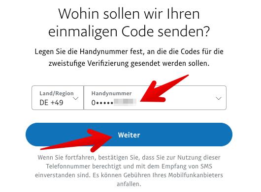 Paypal zweistufige Verifizierung einrichten 4