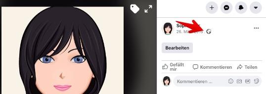 Privatspäre Einstellungen zum Profilbild aufrufen