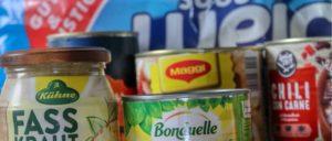 Vorrat Lebensmittel Konserven Symbolbild