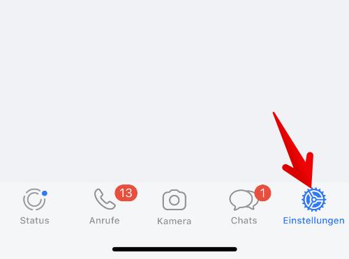 WhatsApp Einstellungen aufrufen