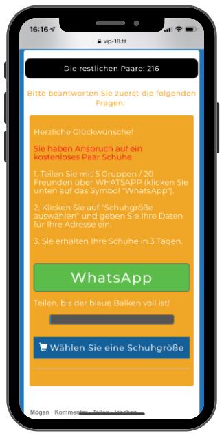 WhatsApp Kettenbrief Adidas-Jubilaeum 2