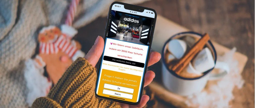WhatsApp Kettenbrief Adidas-Jubiläum kostenlose Schuhe