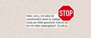 WhatsApp gestohlener Account Betrug