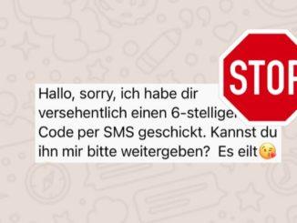 WhatsApp gestohlener Account Betrug
