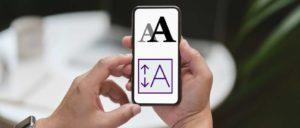 iPhone Schrift vergrößern