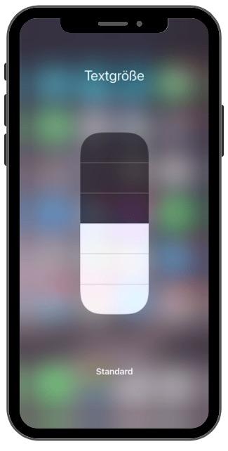iphone Schriftgrösse verändern 2