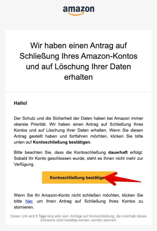 Amazon Konto löschen 4