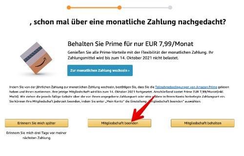 Amazon Prime kündigen 5