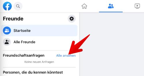 Facebook Freundschaftsanfrage anzeigen 2