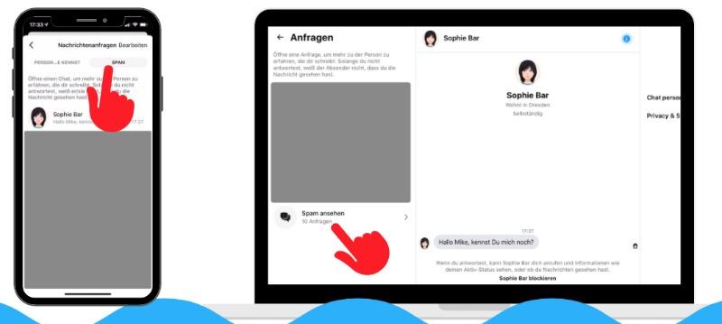 Nachrichtenanfragen Messenger App